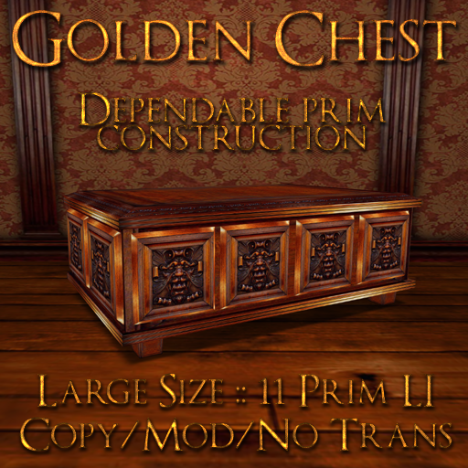 Domicile: Large Golden Chest